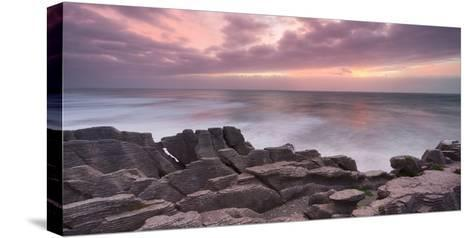 Pancake Rock, Paparoa, West Coast, South Island, New Zealand-Rainer Mirau-Stretched Canvas Print
