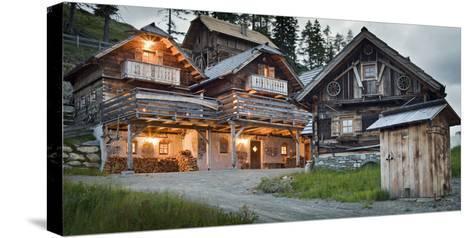 Austria, Carinthia, Katschberg, Cabins, Old, Rustic-Rainer Mirau-Stretched Canvas Print