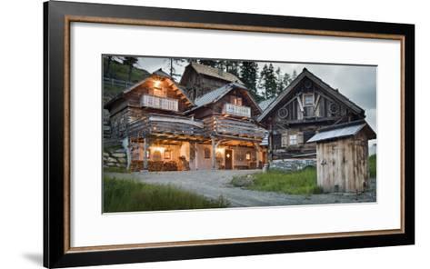 Austria, Carinthia, Katschberg, Cabins, Old, Rustic-Rainer Mirau-Framed Art Print