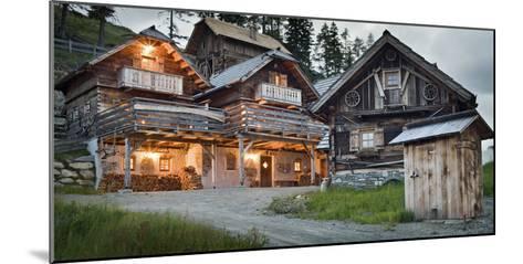 Austria, Carinthia, Katschberg, Cabins, Old, Rustic-Rainer Mirau-Mounted Photographic Print