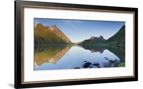 Norway, Nordland, Lofoten, Austvagoya, Austnesfjorden-Rainer Mirau-Framed Art Print