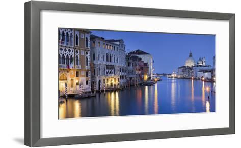 Italy, Veneto, Venice, Grand Canal, Santa Maria Della Salute, Dusk-Rainer Mirau-Framed Art Print