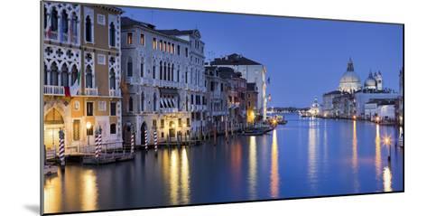 Italy, Veneto, Venice, Grand Canal, Santa Maria Della Salute, Dusk-Rainer Mirau-Mounted Photographic Print
