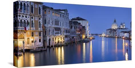 Italy, Veneto, Venice, Grand Canal, Santa Maria Della Salute, Dusk-Rainer Mirau-Stretched Canvas Print