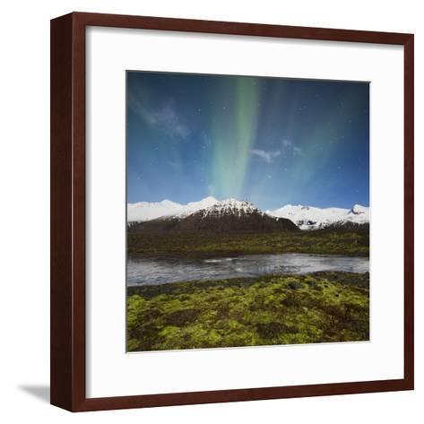 Aurora Borealis, Hafrafell, Skaftafell, South Iceland, Iceland-Rainer Mirau-Framed Art Print