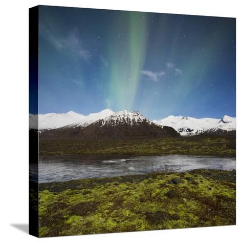 Aurora Borealis, Hafrafell, Skaftafell, South Iceland, Iceland-Rainer Mirau-Stretched Canvas Print