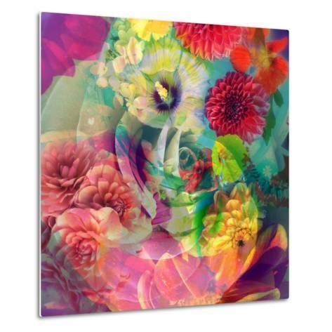 Abstract Blossoms Layered Photographs-Alaya Gadeh-Metal Print