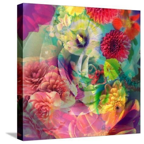 Abstract Blossoms Layered Photographs-Alaya Gadeh-Stretched Canvas Print
