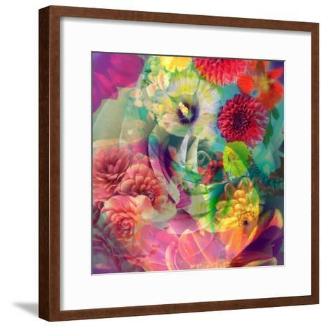 Abstract Blossoms Layered Photographs-Alaya Gadeh-Framed Art Print