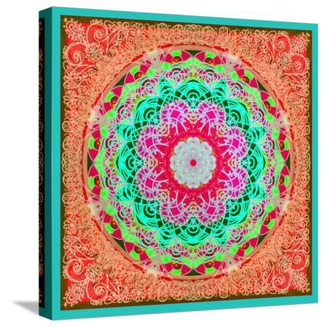 A Mandala Ornament from Flowers and Drawings-Alaya Gadeh-Stretched Canvas Print