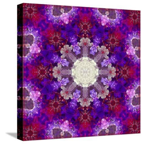 A Many Layered Flower Mandala-Alaya Gadeh-Stretched Canvas Print