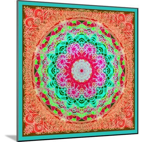 A Mandala Ornament from Flowers and Drawings-Alaya Gadeh-Mounted Photographic Print