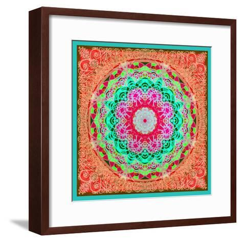 A Mandala Ornament from Flowers and Drawings-Alaya Gadeh-Framed Art Print