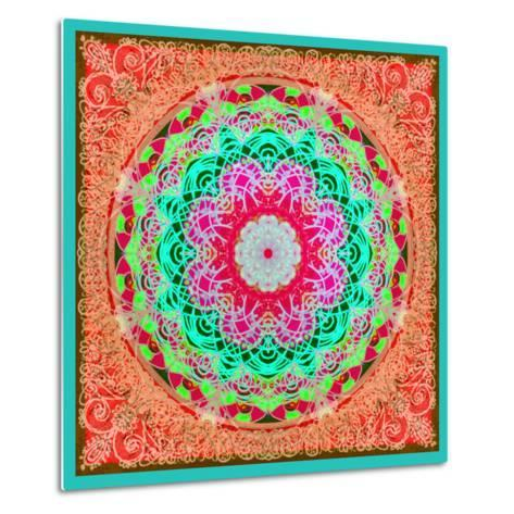A Mandala Ornament from Flowers and Drawings-Alaya Gadeh-Metal Print