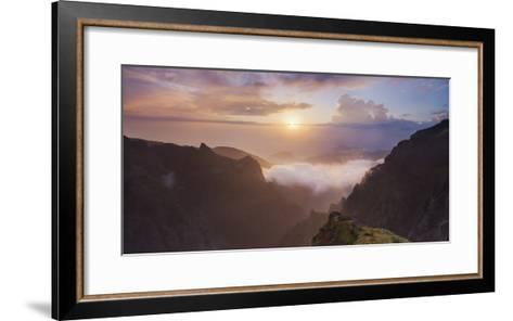 Sunrise at Miradouro Ninho Da Manta, Arieiro, Madeira, Portugal-Rainer Mirau-Framed Art Print