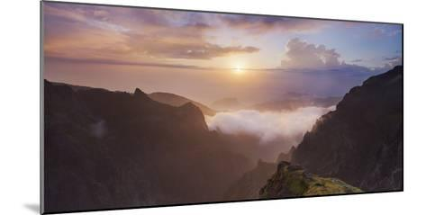 Sunrise at Miradouro Ninho Da Manta, Arieiro, Madeira, Portugal-Rainer Mirau-Mounted Photographic Print