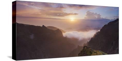 Sunrise at Miradouro Ninho Da Manta, Arieiro, Madeira, Portugal-Rainer Mirau-Stretched Canvas Print
