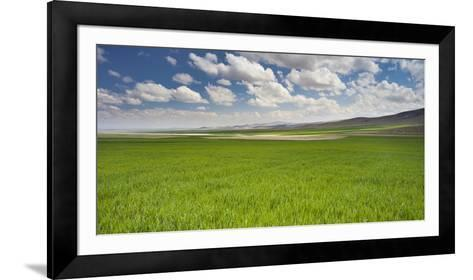 Clouds and Fields Close Konya, Anatolia, Turkey-Rainer Mirau-Framed Art Print