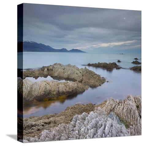 Rock Formations, Kaikoura Peninsula, Manakau Mountains, Canterbury, South Island, New Zealand-Rainer Mirau-Stretched Canvas Print