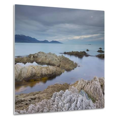 Rock Formations, Kaikoura Peninsula, Manakau Mountains, Canterbury, South Island, New Zealand-Rainer Mirau-Metal Print