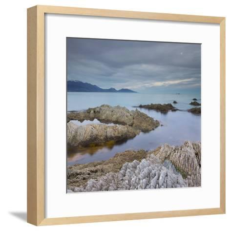 Rock Formations, Kaikoura Peninsula, Manakau Mountains, Canterbury, South Island, New Zealand-Rainer Mirau-Framed Art Print