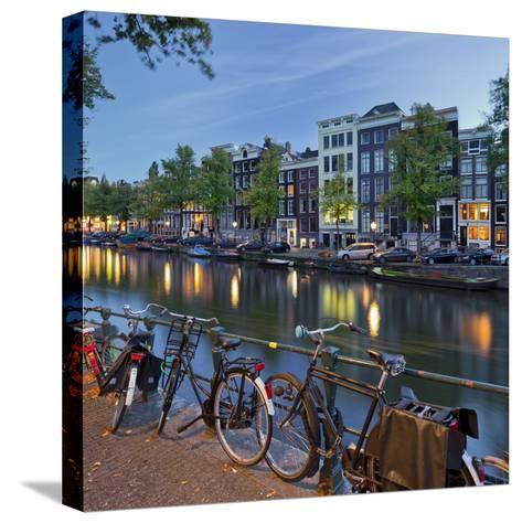 Bicycles, Houses Near the Keizersgracht, Amsterdam, the Netherlands-Rainer Mirau-Stretched Canvas Print