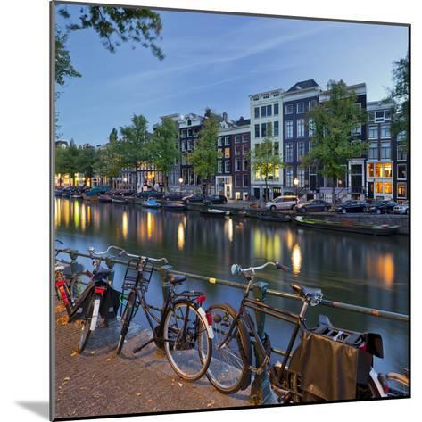Bicycles, Houses Near the Keizersgracht, Amsterdam, the Netherlands-Rainer Mirau-Mounted Photographic Print