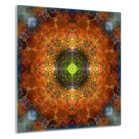 An Energetic Symmetric Onament from Flower Photographs-Alaya Gadeh-Metal Print