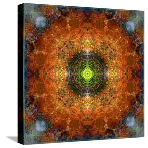 An Energetic Symmetric Onament from Flower Photographs-Alaya Gadeh-Stretched Canvas Print