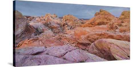 Sandstone, Valley of Fire State Park, Nevada, Usa-Rainer Mirau-Stretched Canvas Print