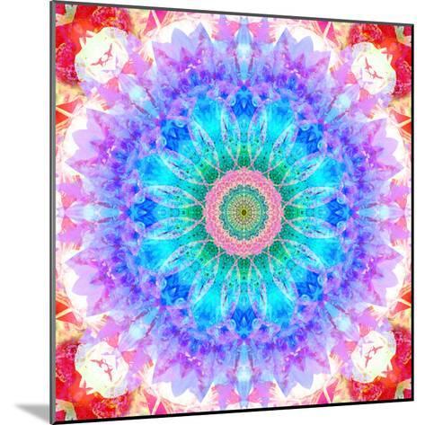 Mandala Ornament of Flowers, Composing-Alaya Gadeh-Mounted Photographic Print