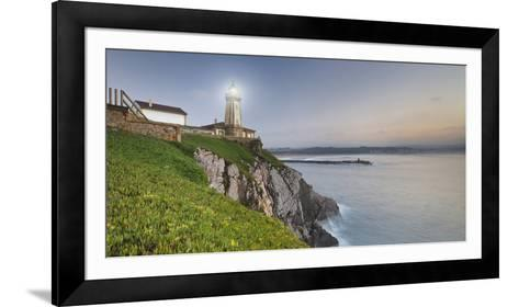 Lighthouse of AvilŽs, Bay of Biscay, Asturias, Spain-Rainer Mirau-Framed Art Print