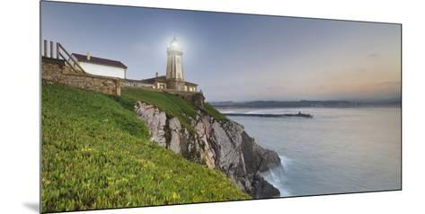 Lighthouse of AvilŽs, Bay of Biscay, Asturias, Spain-Rainer Mirau-Mounted Photographic Print
