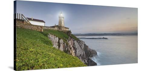 Lighthouse of AvilŽs, Bay of Biscay, Asturias, Spain-Rainer Mirau-Stretched Canvas Print