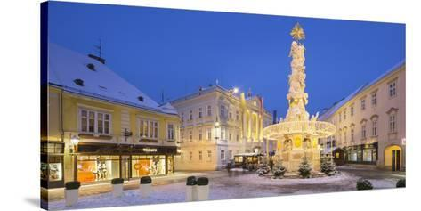 Plague Column, City Hall, Main Square, Baden Bei Wien, Lower Austria, Austria-Rainer Mirau-Stretched Canvas Print