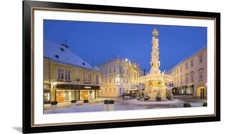 Plague Column, City Hall, Main Square, Baden Bei Wien, Lower Austria, Austria-Rainer Mirau-Framed Art Print