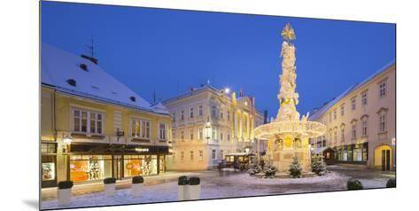 Plague Column, City Hall, Main Square, Baden Bei Wien, Lower Austria, Austria-Rainer Mirau-Mounted Photographic Print