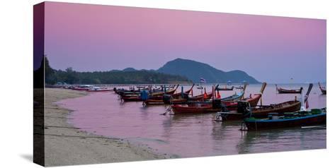 Thailand, Phuket, Rawai Beach, Longtail, Evening-Steffen Beuthan-Stretched Canvas Print