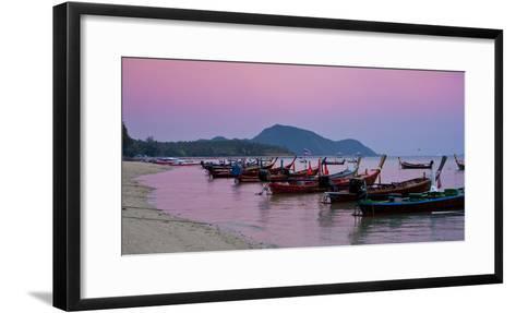 Thailand, Phuket, Rawai Beach, Longtail, Evening-Steffen Beuthan-Framed Art Print