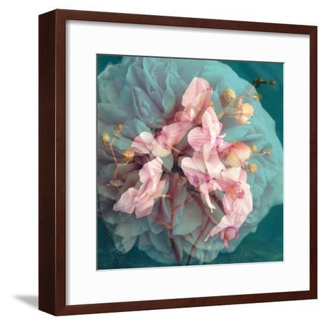 A Delicate Floral Montage from Blooming Orchids and Rose-Alaya Gadeh-Framed Art Print