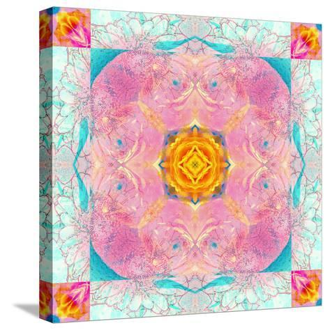 Colorful Symmetric Layer Work from Flowers-Alaya Gadeh-Stretched Canvas Print