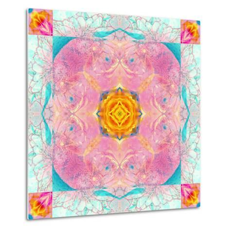 Colorful Symmetric Layer Work from Flowers-Alaya Gadeh-Metal Print