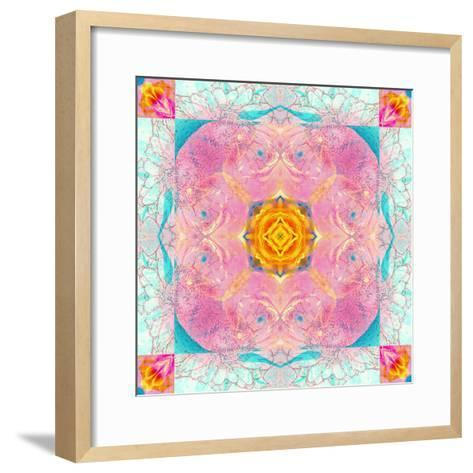 Colorful Symmetric Layer Work from Flowers-Alaya Gadeh-Framed Art Print