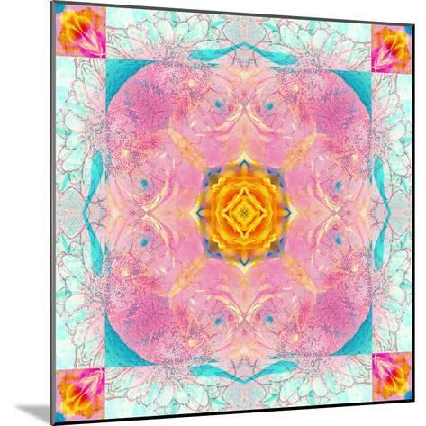 Colorful Symmetric Layer Work from Flowers-Alaya Gadeh-Mounted Photographic Print