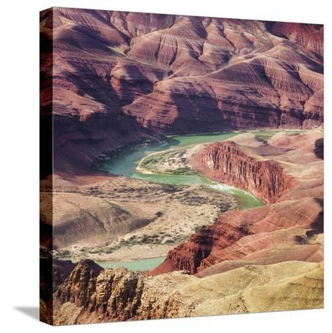 Colorado River as Seen from the Lipan Point, Grand Canyon National Park, Arizona, Usa-Rainer Mirau-Stretched Canvas Print