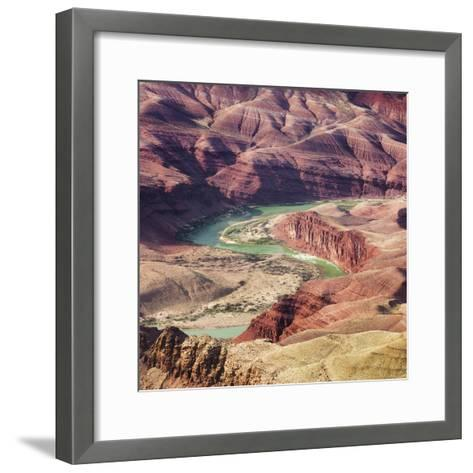 Colorado River as Seen from the Lipan Point, Grand Canyon National Park, Arizona, Usa-Rainer Mirau-Framed Art Print