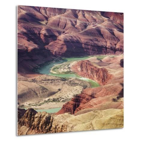 Colorado River as Seen from the Lipan Point, Grand Canyon National Park, Arizona, Usa-Rainer Mirau-Metal Print