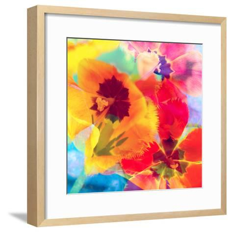 Dreamy Photographic Layer Work from Tulips-Alaya Gadeh-Framed Art Print