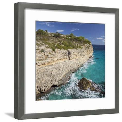 Steep Coast Near Cala Romantica, Majorca, Spain-Rainer Mirau-Framed Art Print