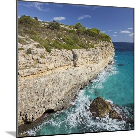 Steep Coast Near Cala Romantica, Majorca, Spain-Rainer Mirau-Mounted Photographic Print